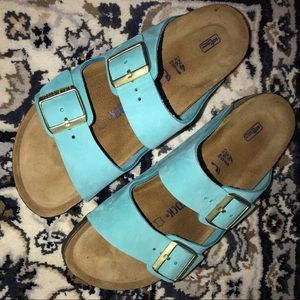 Light blue Birkenstock's